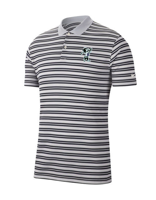 K-State NIKE 2020 Dry Victory Stripe Polo (White/Platinum/Obsidian)