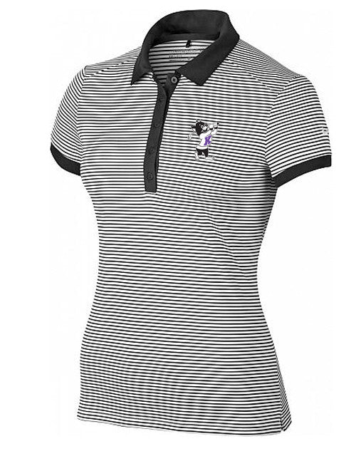 NIKE Women's Victory Mini Stripe Polo (Black)
