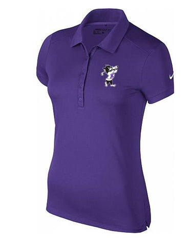 NIKE Women's Victory Solid Polo (Purple)
