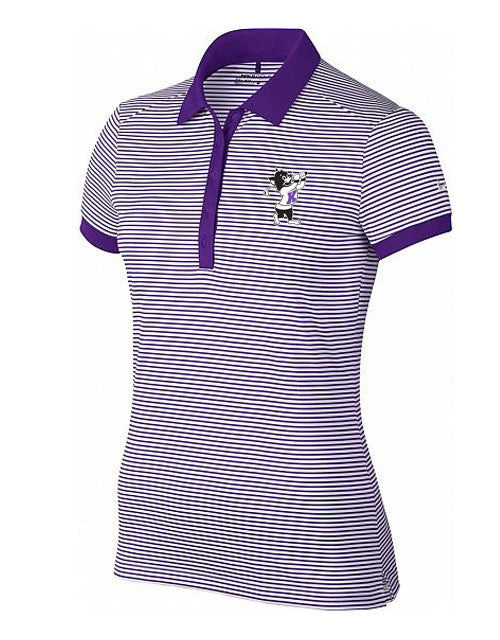 NIKE Women's Victory Mini Stripe Polo (Purple)