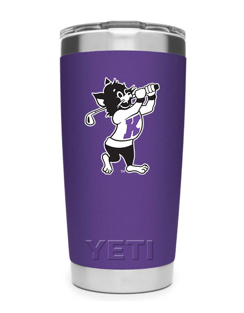 K-State Yeti 20 oz Golfing Willie Rambler (Purple)