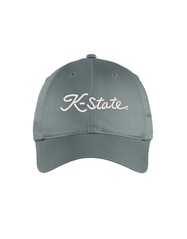 NIKE Unstructured K-State Script Hat (Dark Grey)