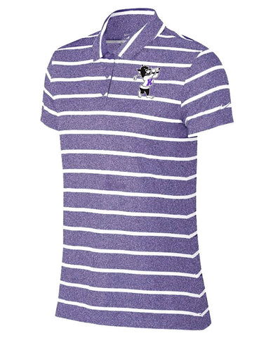 NIKE Women's Dri-Fit  Stripe Polo (Purple)