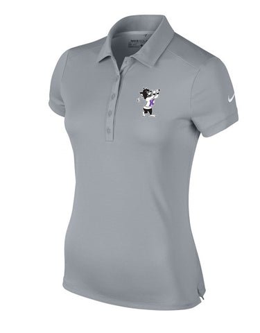 NIKE Women's Victory Solid Polo (Grey)