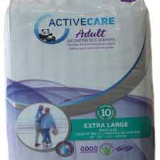 Active Care Adult Diapers Extra Large 10s