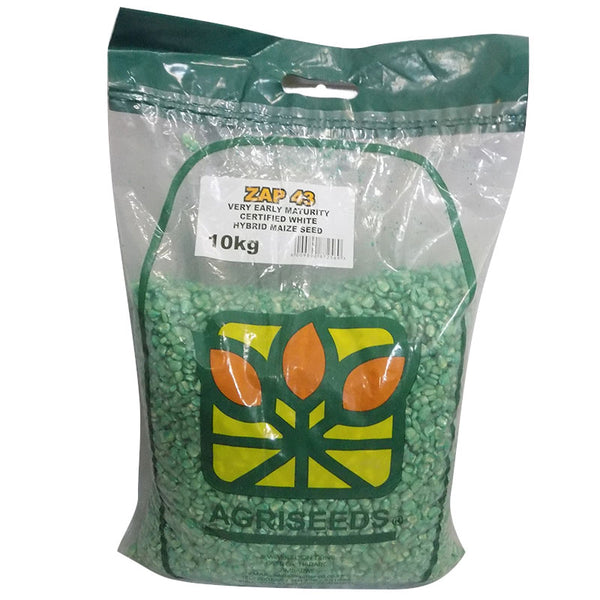 AgriSeeds ZAP43 Very Early Maturity Hybrid Maize Seeds 10kg