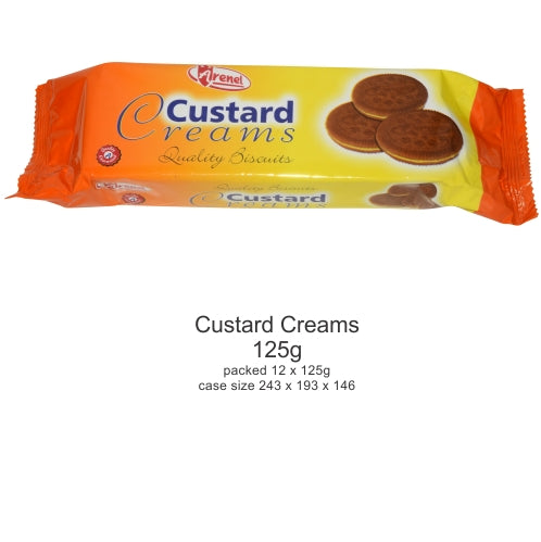 Arenel Custard Creams Biscuits 125g