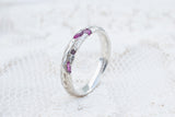 Rough ruby cuttlefish cast Sterling silver ring band