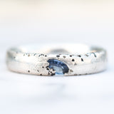 Tanzanite textured Argentium silver ring band
