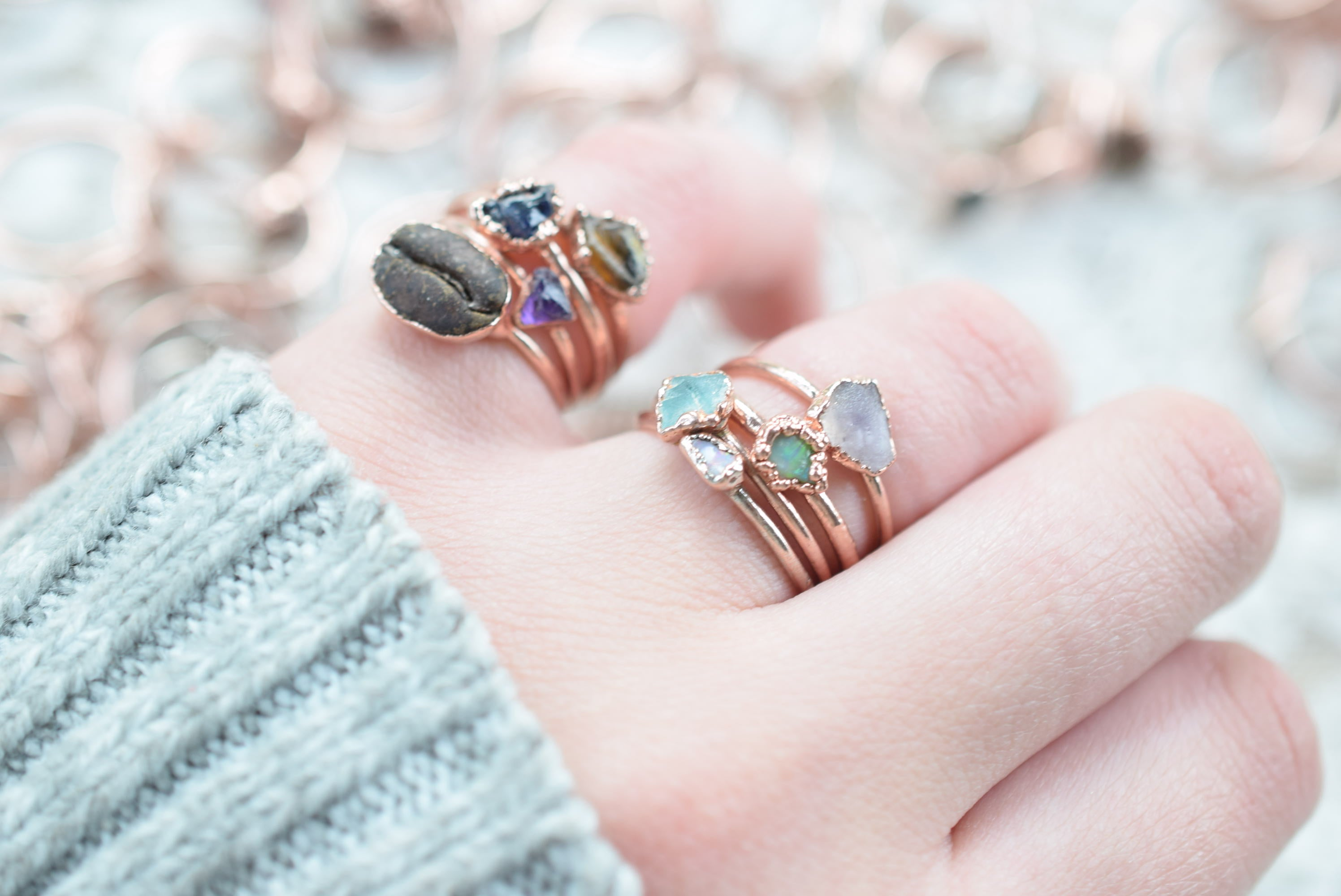 LUCKY DIP RINGS IN RECYCLED COPPER