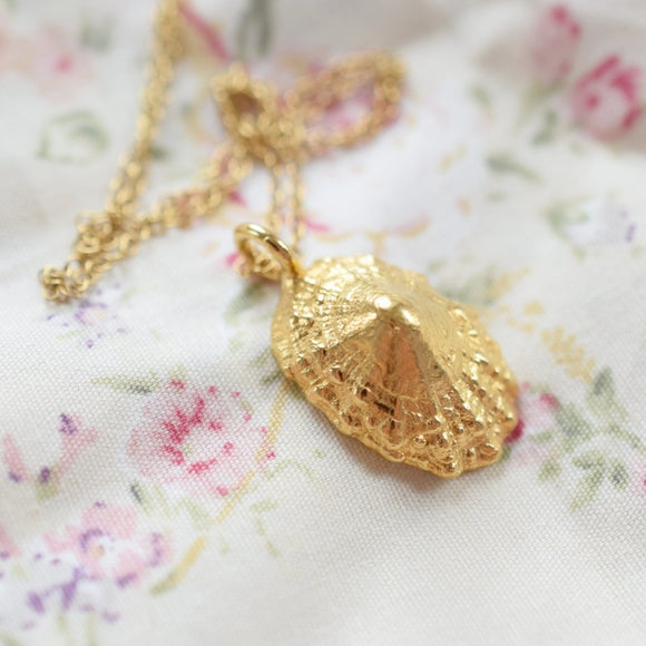 REAL LIMPIT SHELL NECKLACE IN FINE GOLD
