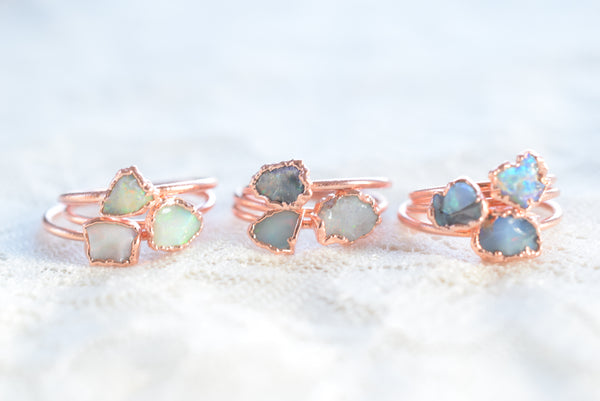 RAW OPAL RING IN RECYCLED COPPER