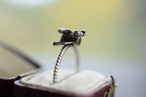 REAL SPINE BONE RING FINE SILVER
