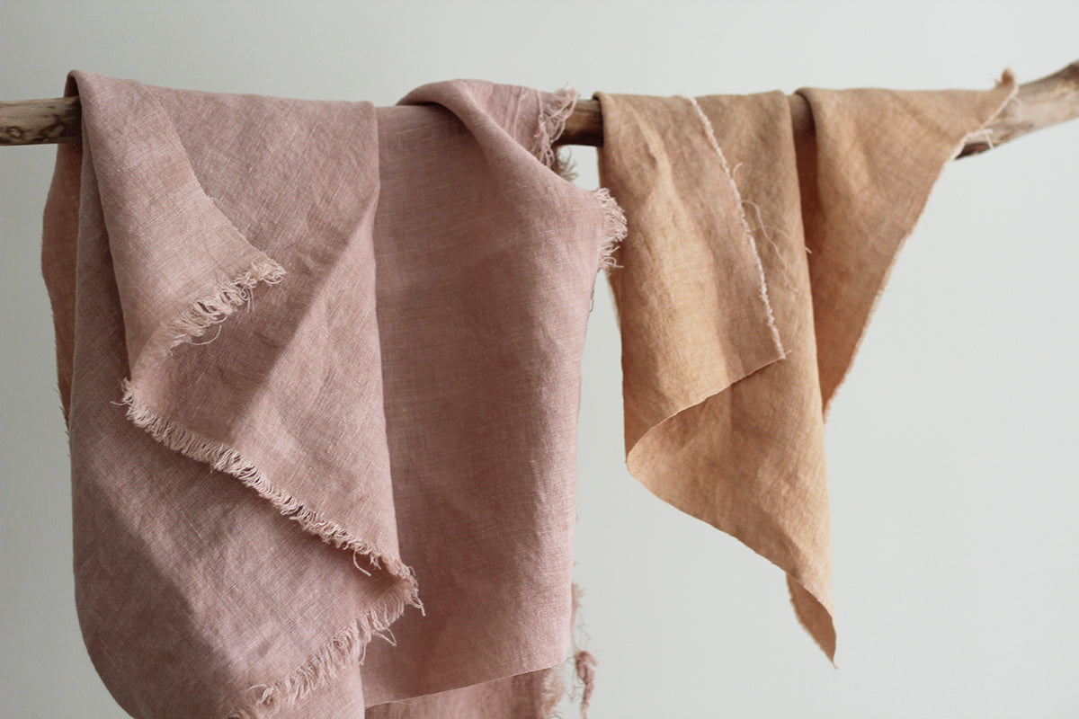 How to care for your plant dyed linen.