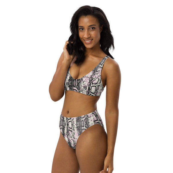 Snake high-waisted bikini