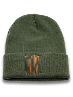 Evoke Clothing - Beanie Oliv-Gold