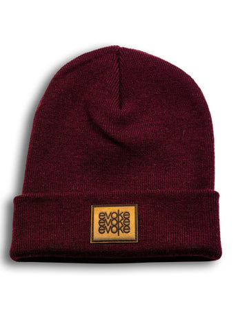 Evoke Clothing - Beanie Burgundy