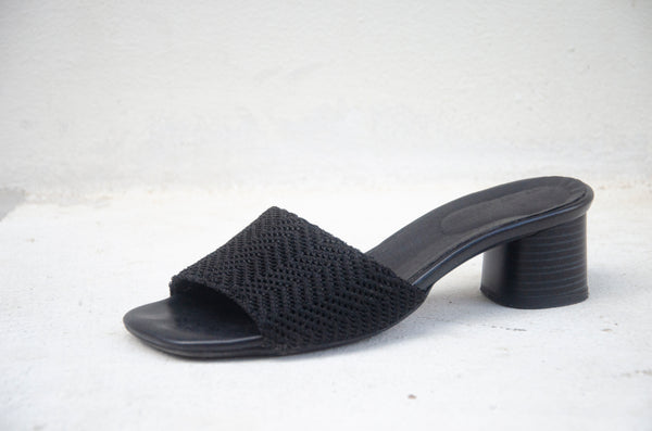 NEW IN - PRE ORDER - #16 Black slide on heels