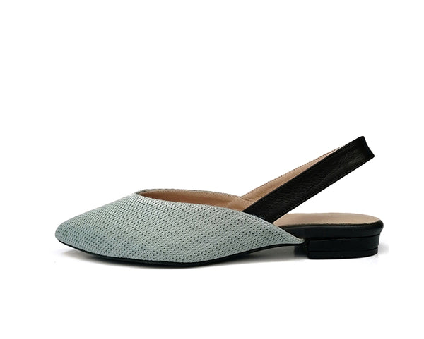 #14 Dusty Mint & Black Flats