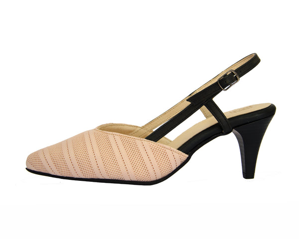 #13 Peach & Black Sandal
