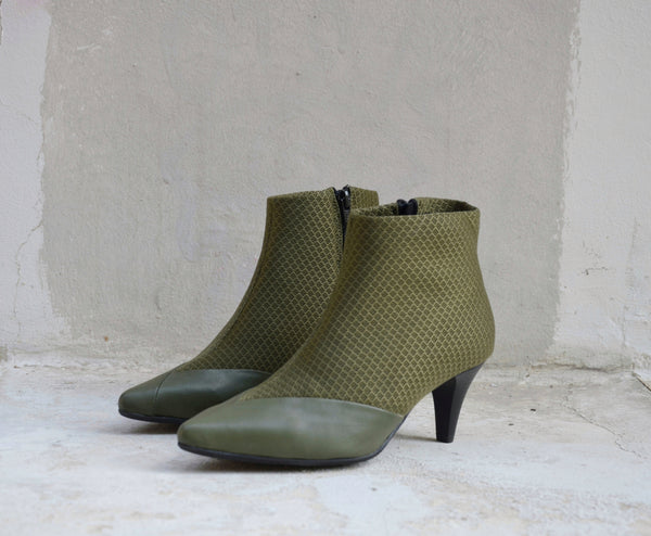 #16 OLIVE GREEEN 3D MESH BOOTIES