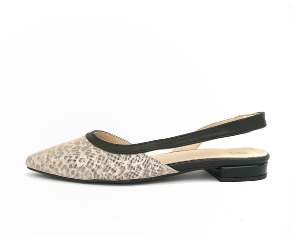 #15 Leoprd print & Black leather Flats