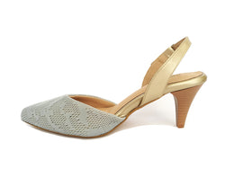 #6 Gray & Gold MESH sandal