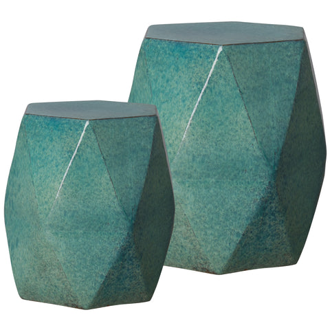 Teal Garden Stool - Hamptons Furniture, Gifts, Modern & Traditional