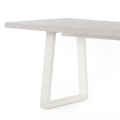 Poly-Resin Topped Outdoor Dining Table