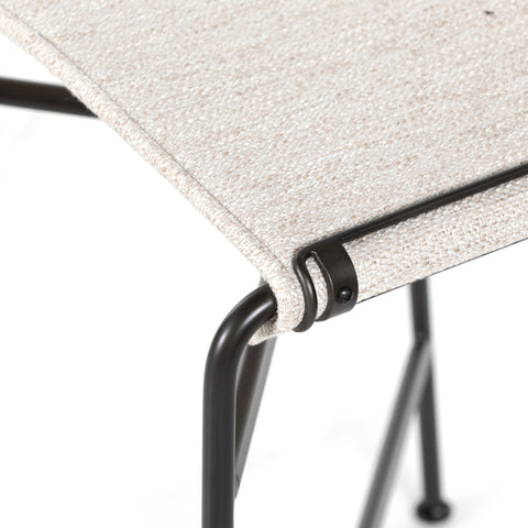 Iron Tubed Counter Stool with Contoured Seating