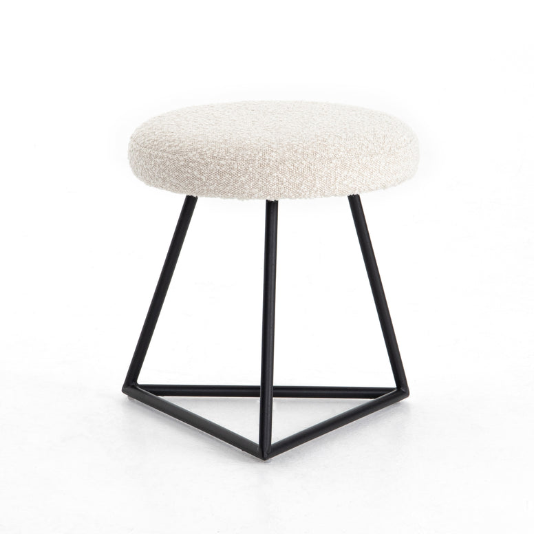 Boucle Top Iron Stool