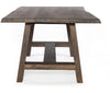 Classic A Frame Oak Trestle Table, Live edge details with Matching Bench