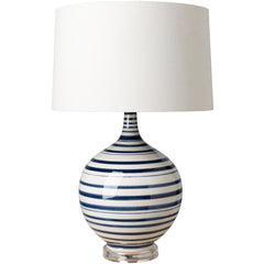 White and Navy Lamp