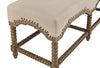 White washed Bobbin style Bench with linen upholstery - Hamptons Furniture, Gifts, Modern & Traditional