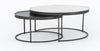 Nesting Coffee Table with Metal & Marble Top