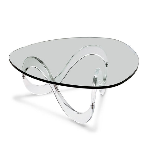 Unusual Glass Cocktail Table