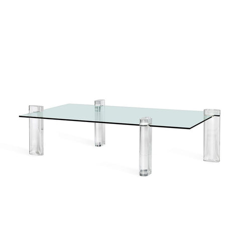 Large Cocktail Table in Glass and Acrylic