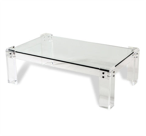 Acrylic U0026 Glass Rectangular Coffee Table