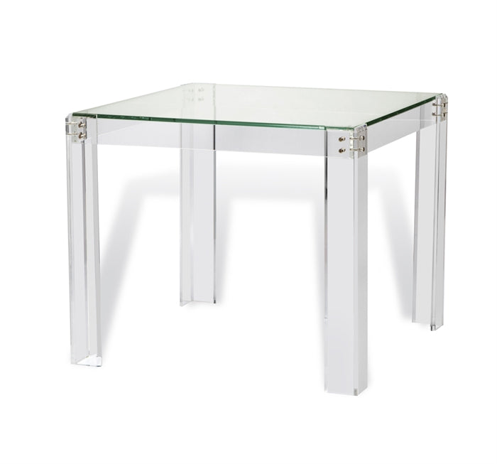 Acrylic & Glass Games or Occasional Table - Hamptons Furniture, Gifts, Modern & Traditional