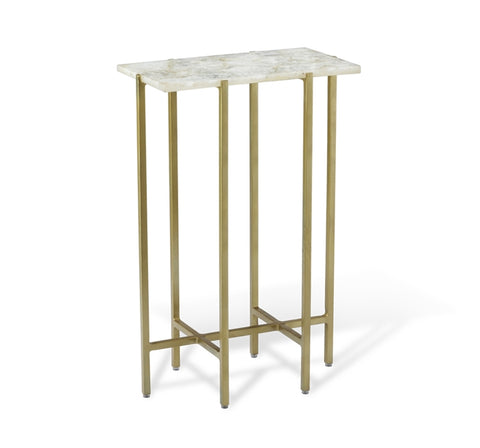 white agate top side table