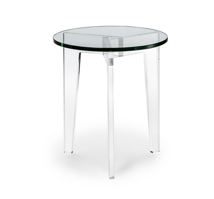 Superb Acrylic U0026 Glass Round Side Table