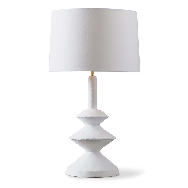 White Table Lamp, Inspired by a paper maché sculpture,