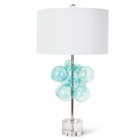 table Lamp with clear glass bubbles and plexi glass base