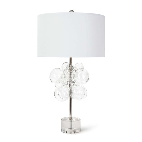 table Lamp with clear glass bubbles and plexi glass base - Hamptons Furniture, Gifts, Modern & Traditional