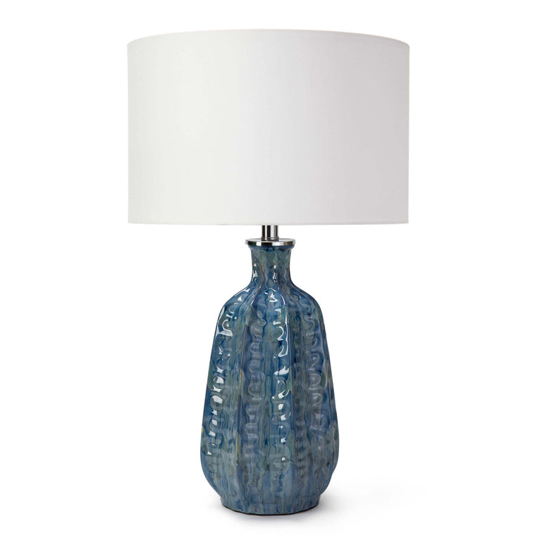 Hand Made Table Lamp in Sea Blue