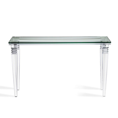 Acrylic & Glass Console Table