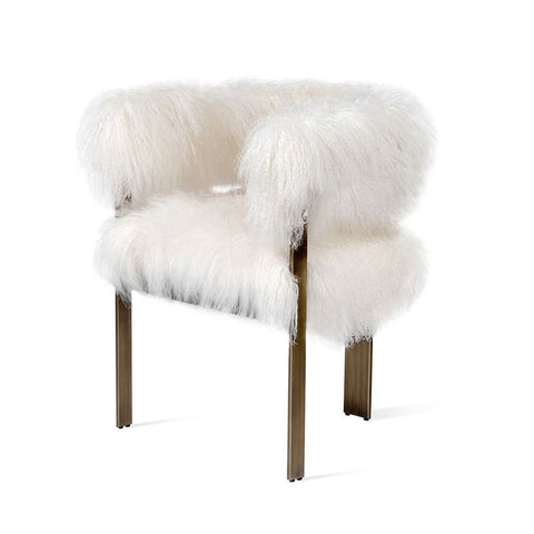 Long Hair Curly Sheepskin Chair