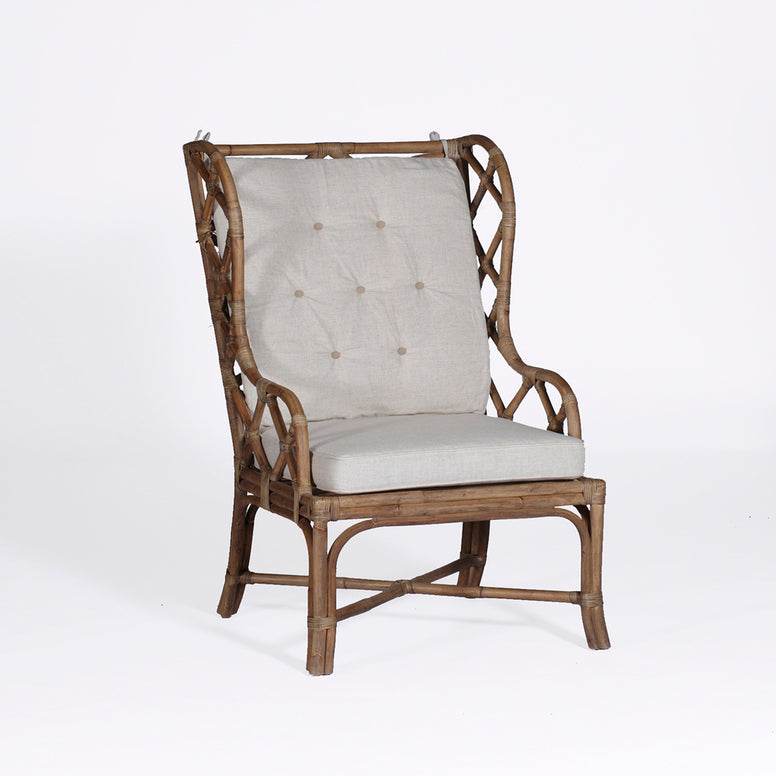 Rattan Wing Back Chair - Hamptons Furniture, Gifts, Modern & Traditional