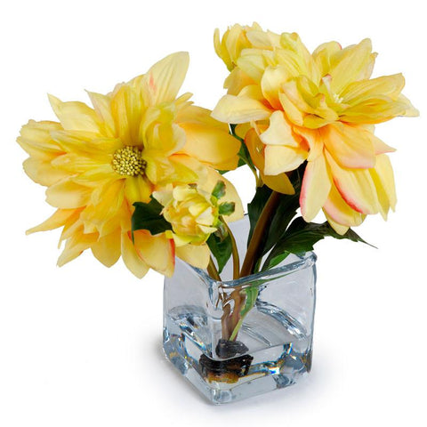 Small Faux Dahlia Arrangements