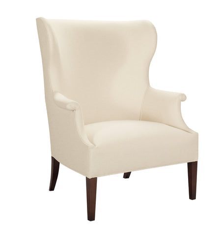 Transitional Wing Chair, with high back